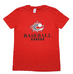 Baseball Canada T-shirt (Red) Adult and Youth sizes|T-shirt de Baseball Canada (rouge)