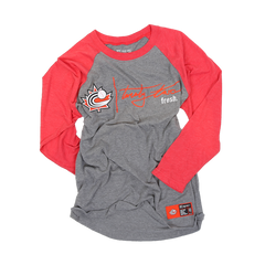 Baseball Canada Raglan Grey/Red | Chandail de type Raglan Gris/Rouge