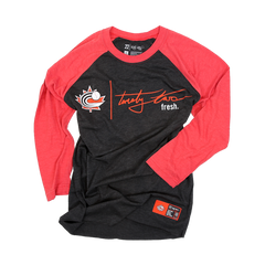 Baseball Canada Raglan Black/Red | Chandail de type Raglan Noir/Rouge de Baseball Canada