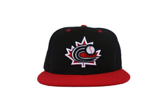 Baseball Canada Low Profile Fitted Diamond Era Cap - Black|Casquette Baseball Canada Noire