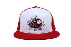Baseball Canada Diamond Era Low Profile Fitted Cap-Red with White Front| Casquette Baseball Canada Rouge avec devant Blanc