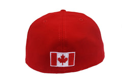 Baseball Canada Diamond Era Fitted Cap-Red with White Front/Casquette Baseball Canada-Rouge avec devant blanc