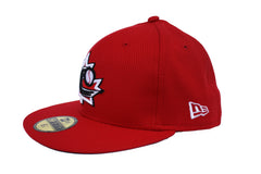 Baseball Canada Low Profile Fitted Diamond Era Cap - Red|Casquette Baseball Canada Rouge