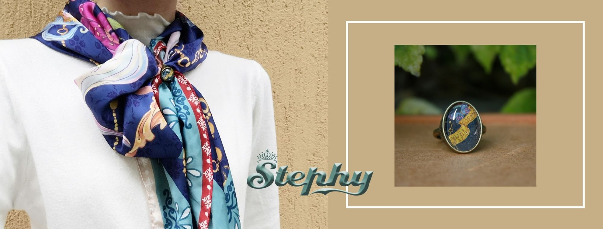 how to tie stephy scarf