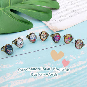 stephy Personalized scarf ring