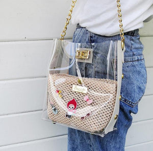 stephy Chain Straw bag