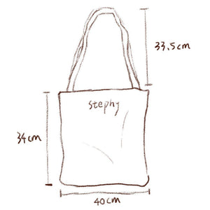 stephy canvas tote bag