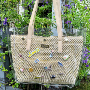 stephy straw tote bag