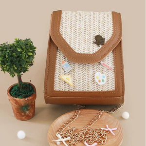 stephy straw crossbody bag