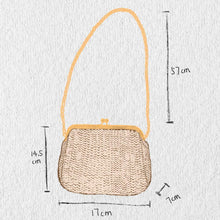 Load image into Gallery viewer, stephy Chain Straw bag