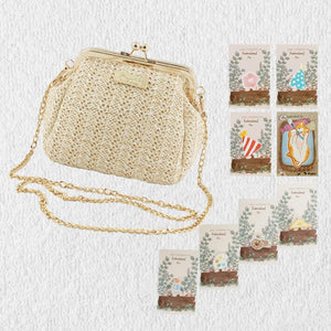 stephy straw clasp bag