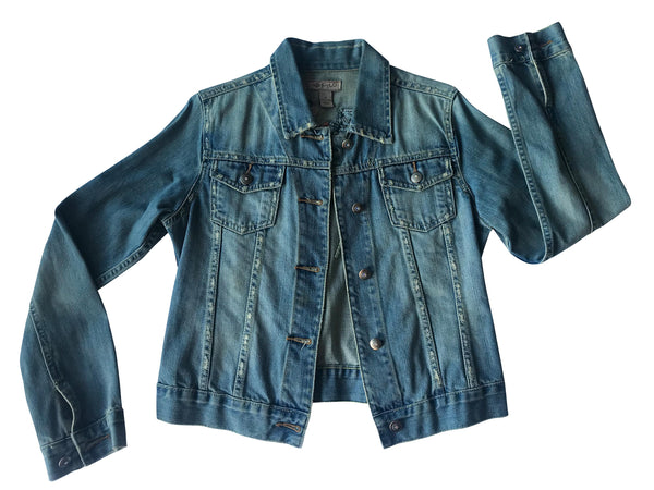 Embroidered Denim Jacket worn by Melinda Schneider