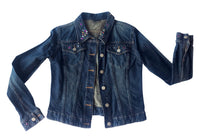 Atelier Studded Denim Jacket worn by Melinda Schneider