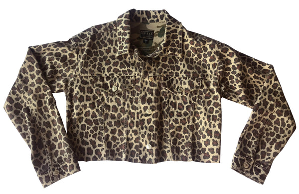 Guess Leopard Print Denim Jacket worn by Melinda Schneider