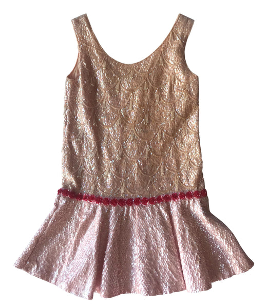 60s Pink Sequin Mini Dress worn by Mary Schneider