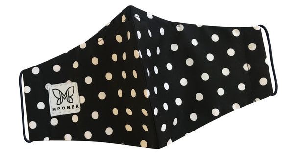 Black and White Polka Dot Mask