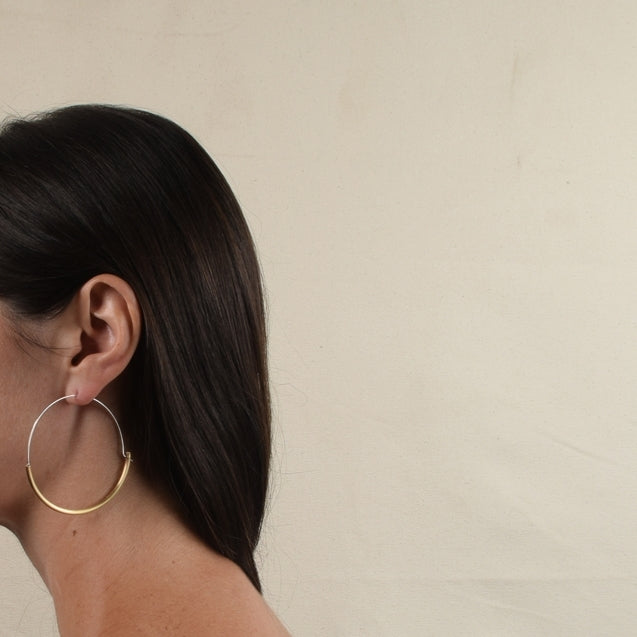 ARC XL HOOPS | BRASS