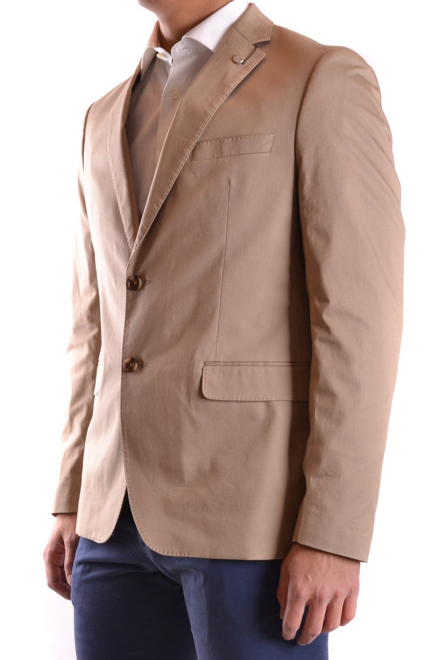 Michael Kors Men's Blazer With Lapel Collar - Beige