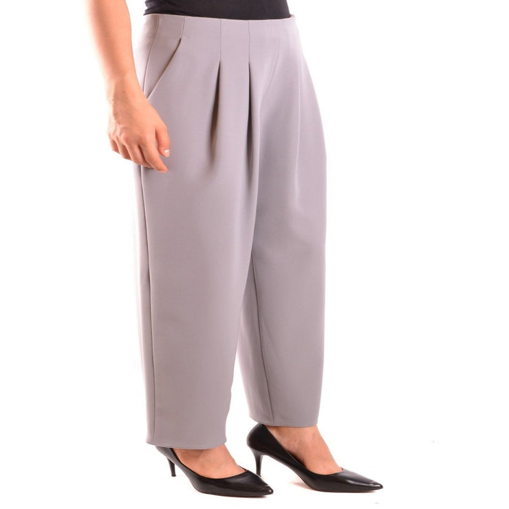 Armani Collezioni - Women's Front Pocket Trousers - Grey