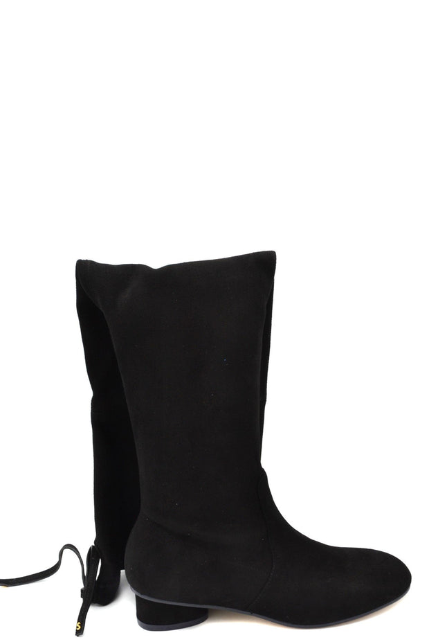 Stuart Weitzman Women's Calf High Suede Boots - Black