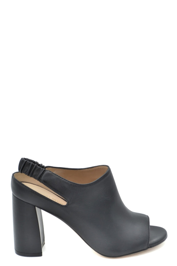 Stuart Weitzman Women's Open Toe Leather Shoes - Black