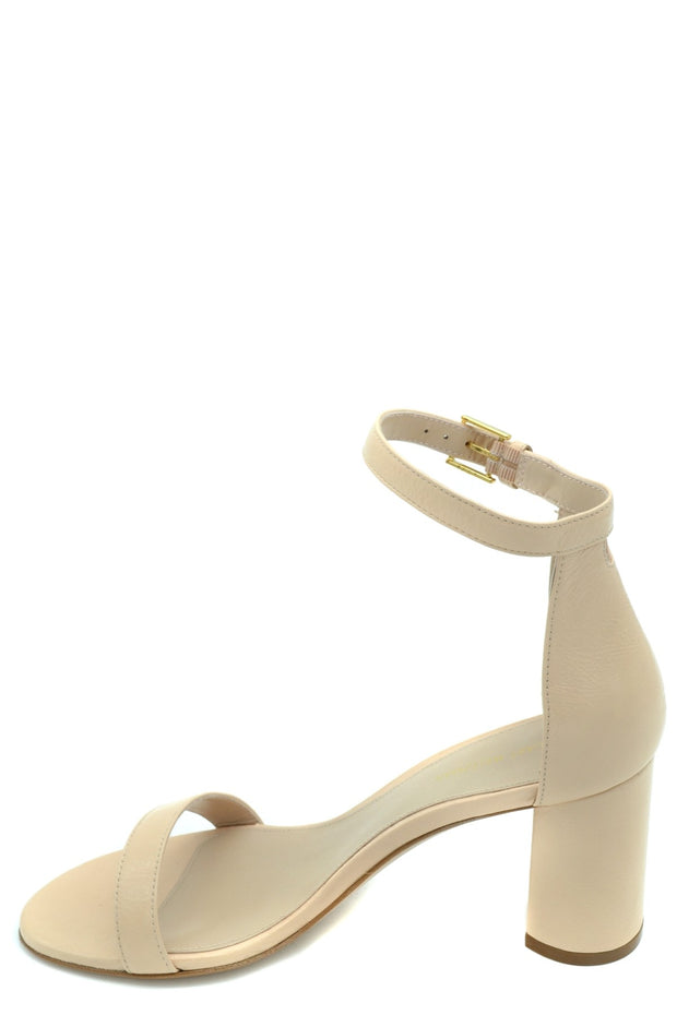 Stuart Weitzman Women's Leather High Heel Sandals - Beige
