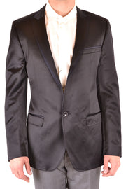 Dolce & Gabbana Men's Blazer Long Sleeves - Black