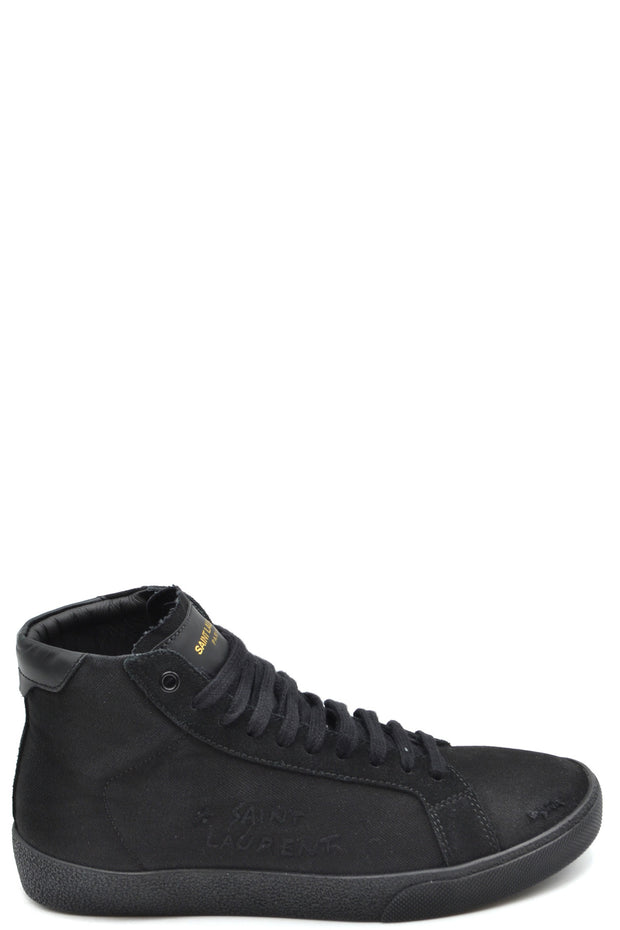 Saint Laurent - Mid Top Men's Sneakers - Black