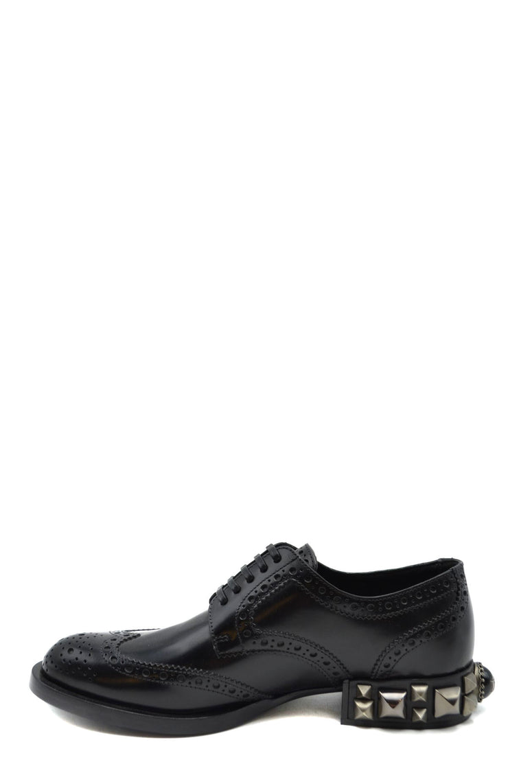 Dolce & Gabbana Women's Lace Up Leather Shoes - Black