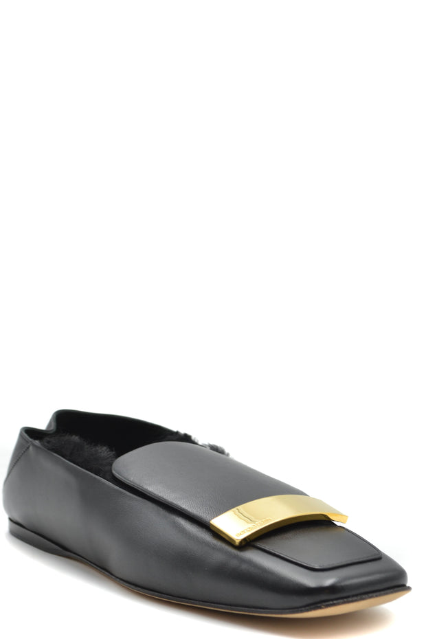 Sergio Rossi Women's Leather Ballet Flats - Black