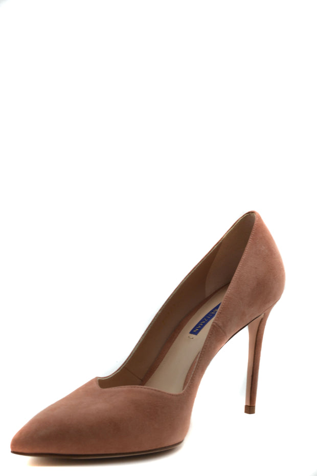 Stuart Weitzman Women's Suede Stiletto Pumps - Salmon