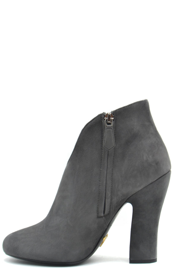 Prada - Women's Grey Ankle Boots