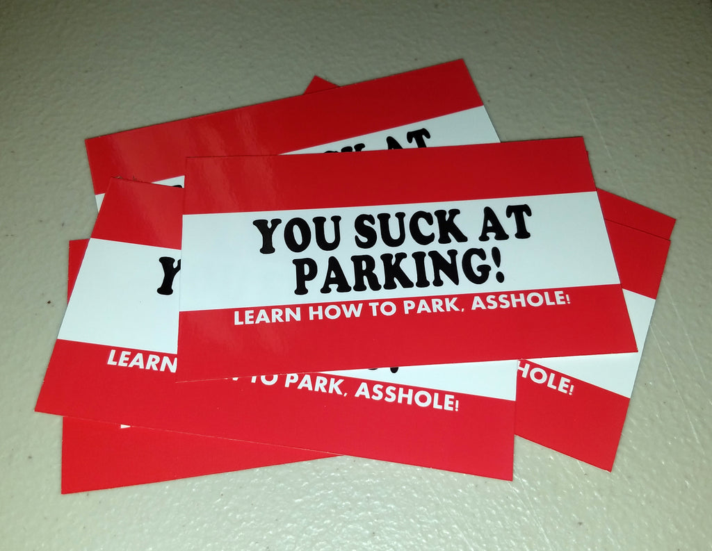 You Suck at Parking Cards - 100 cards Business Card Size – Gregorys ...