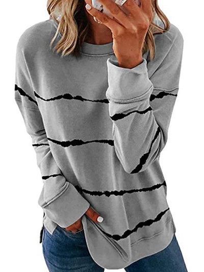 Striped Casual Long Sleeve T-shirt