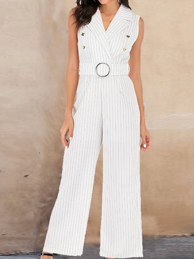 Striped Casual Jumpsuit