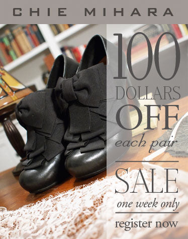 Weekly Private Sale: $100 Off Chie Mihara Shoes