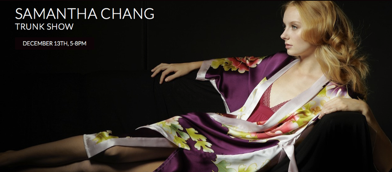 Reminder: Samantha Chang Trunk Show Tonight!