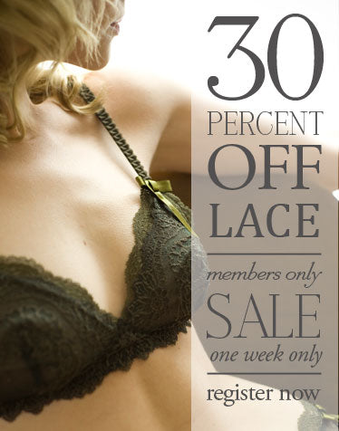 New Weekly Sale: 30% off Lace Lingerie!