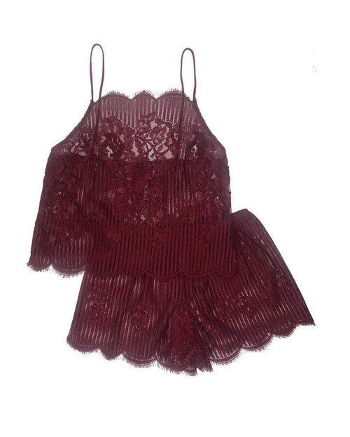 Lille Boutique Black Cherry / L Dear Evelyn Cami and Tap Sleep Set