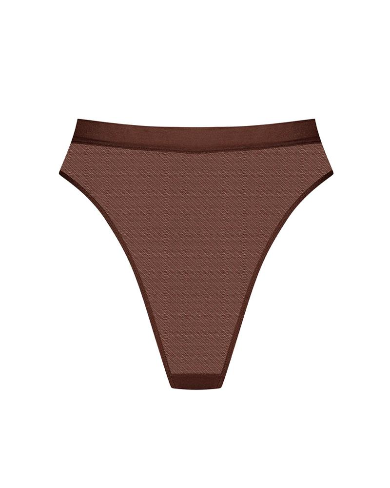 Maison Close Brown / L Corps A Corps High Waist Thong