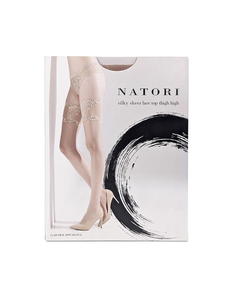 Natori Legwear Silky Sheer Lace Top Stockings