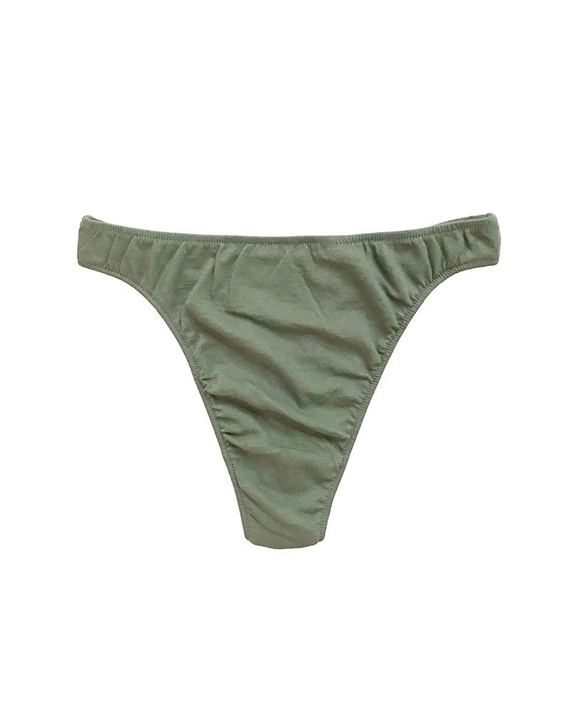 Organic Cotton High Cut Thong