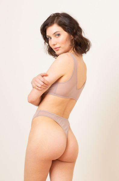 Tulle High Cut Thong