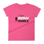 "BBW - Hot Pink Women's short sleeve t-shirt ""I Love BBW Collection"""