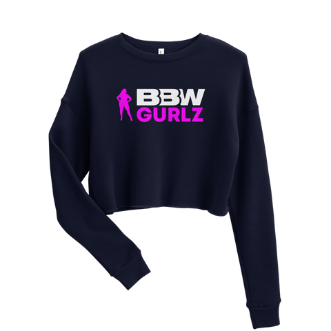 BBW Gurlz - Crop Sweatshirt (Navy Blue)