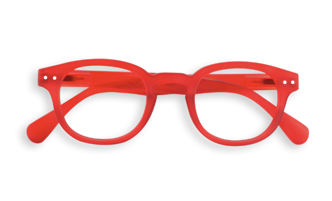 2e9a0e94f9 IZIPIZI  C shape READING Red crystal reading glasses - Popsicle