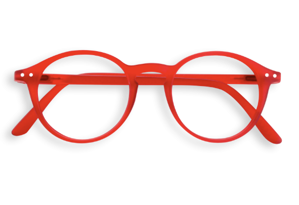 a0e59e667e IZIPIZI  D shape READING Red crystal reading glasses - Popsicle
