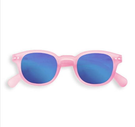 86a3bf520c Izipizi  C Pink Crystal sunglasses with Blue Mirror Lenses - Popsicle