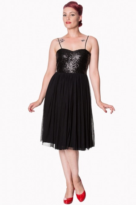 Sequin Tulle Midi Dress
