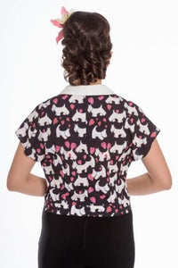 Scotty Dog Print Blouse